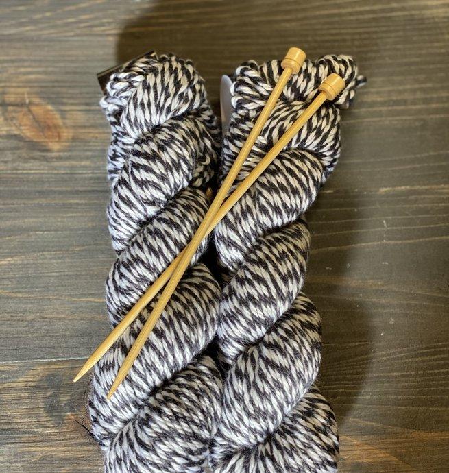 Pelotes & Cie Kit débutant Tricot - Noir et blanc