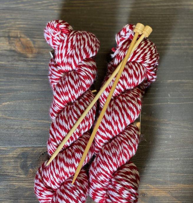 Pelotes & Cie Kit débutant Tricot - Rouge et blanc