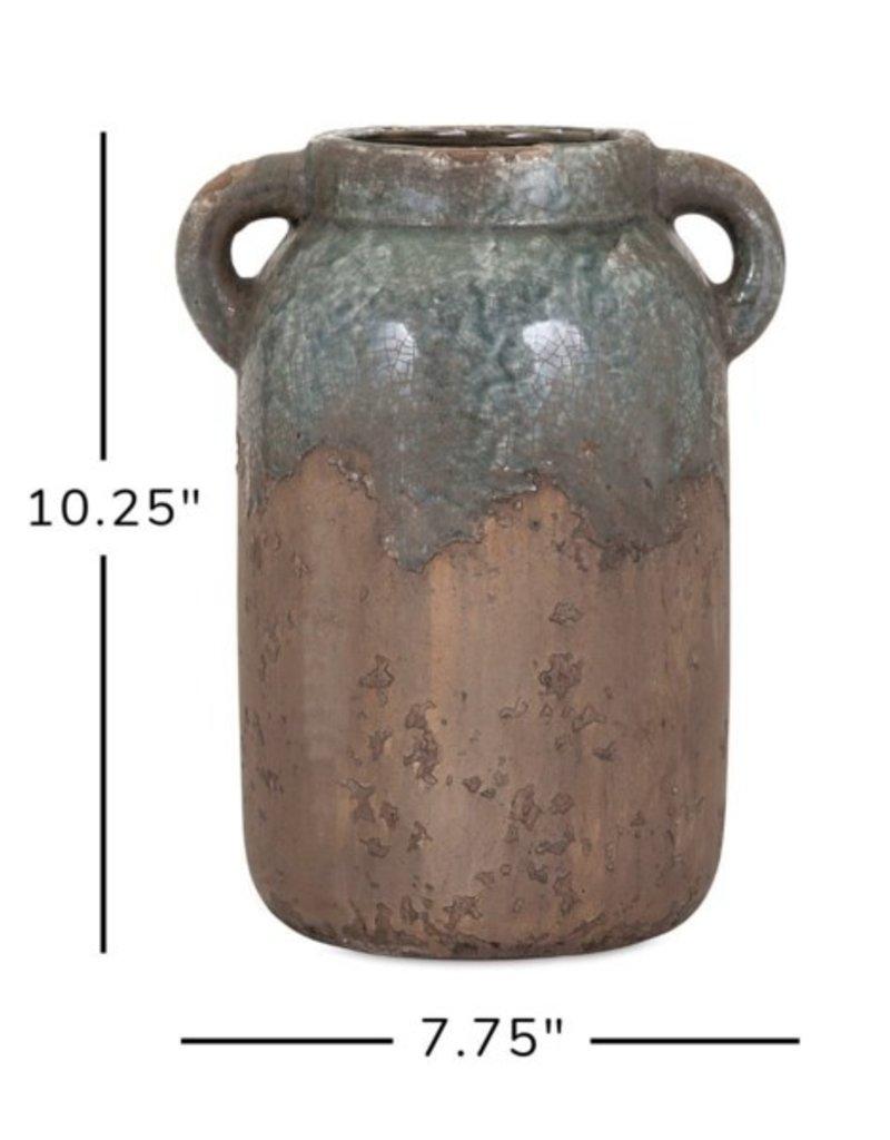 Imax Bardot Large Blue Stone Ceramic Vase