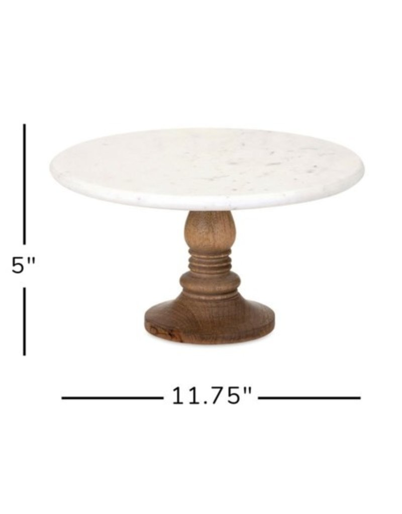Imax Lissa Marble Cake Stand