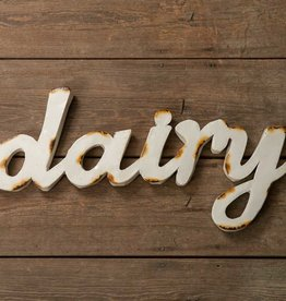 """dairy"""" Wall Sign"""