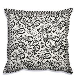 Ansel Cotton Throw Pillow Black/White