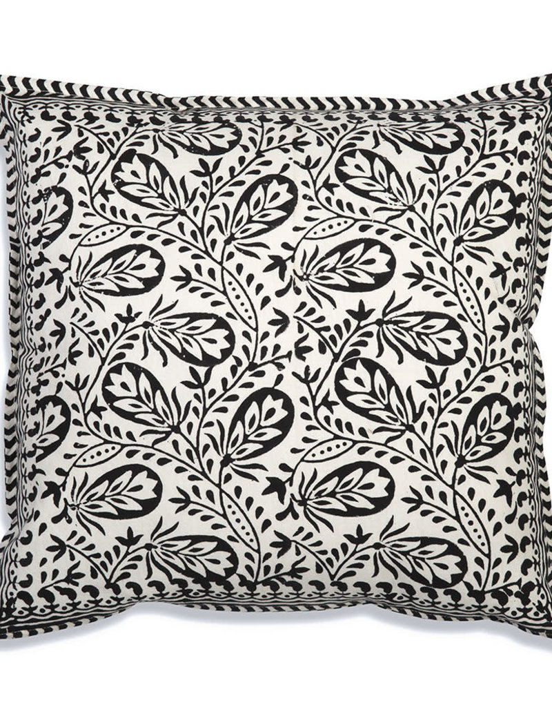 Ansel Cotton Throw Pillow Black/White
