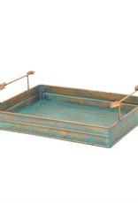 Turquoise Patina Tray W/ Arrow Design