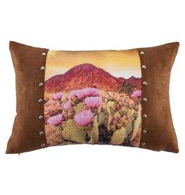 Desert Scene Pillow W/ Studs Detail 18 x 12
