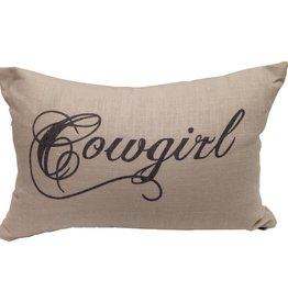 Cowgirl Linen Pillow 12 x 19