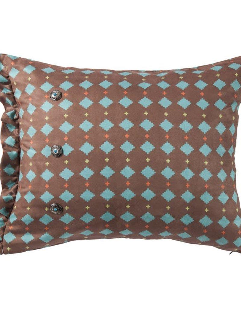 Printed Multi Diamond Suede Pillow 16 x 26