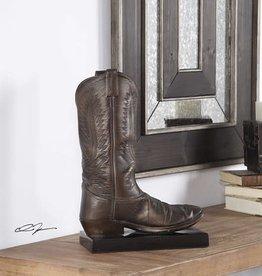 Boot Sculpture in Antique Bronze