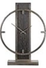 Desk Clock in Antiqued Silver Champagne