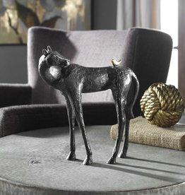 Hello Friend Sculpture in Dark Brown