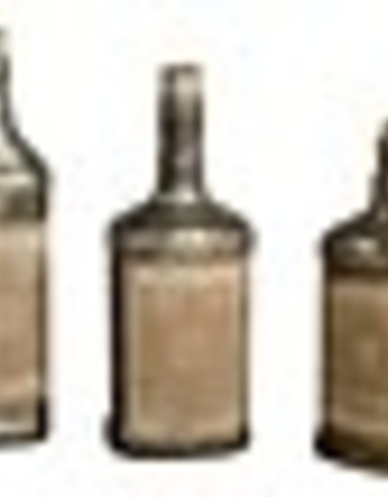 Uttermost Recycled Bottles Bottles in Recycled Mercury