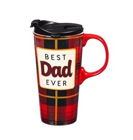 Ceramic Travel Cup 17 OZ w/Box Best Dad Ever