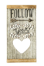 Corrugated Metal Wall Decor Follow Your Heart