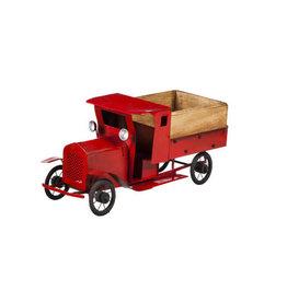 Antique Red Metal Truck
