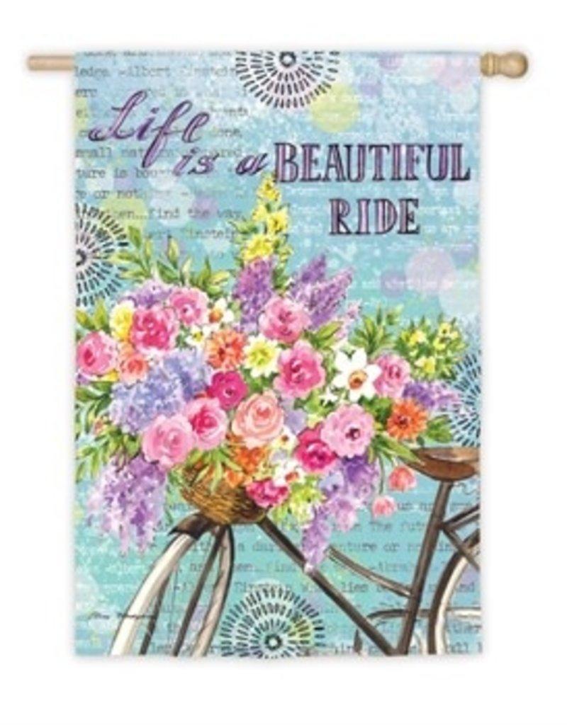 Beautiful Ride Garden Suede Flag