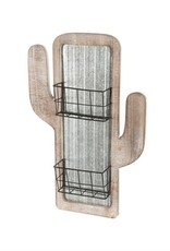 Cactus Wall Decor w/Metal Baskets