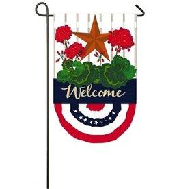 Patriotic Bunting Garden Burlap Flag