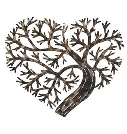 Metal Heart Shaped Tree Wall Decor