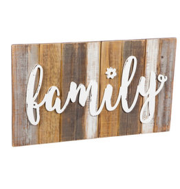 "Wooden Wall Art, Family 20"" x 11"""