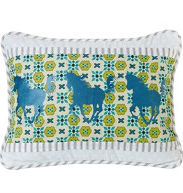 HORSE EMBRODIERY PILLOW 16X21