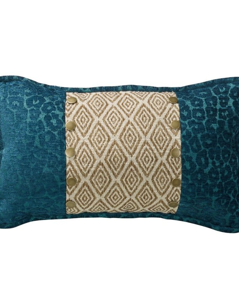 IKAT & LEOPARD ACCENT PILLOW 10X16
