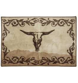 Scroll With Skull Rug 24x36
