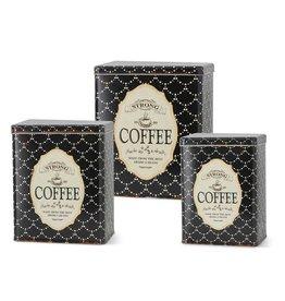 Black & White Vintage Coffee Tin - Set of 3