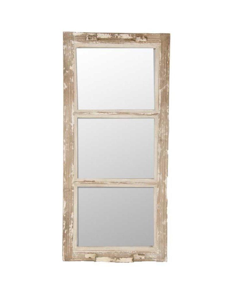 Wood and Metal 3 Pane Mirror w/Handles