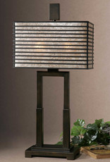 Uttermost Becton Two Light Table Lamp in Oil Rubbed Bronze