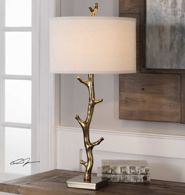 Javor One Light Table Lamp in Antiqued Gold