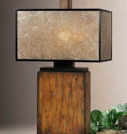 Uttermost Sitka One Light Table Lamp in Rustic Mahogany