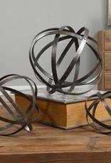 Uttermost Stetson Spheres Sculptures in Dark, Aged Bronze w/Silver Undertones