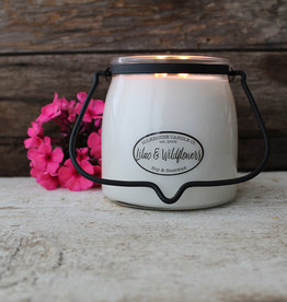 Butter Jar 16 oz Lilac and Wildflowers