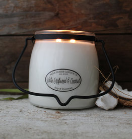 Butter Jar 16 oz White Driftwood and Coconut