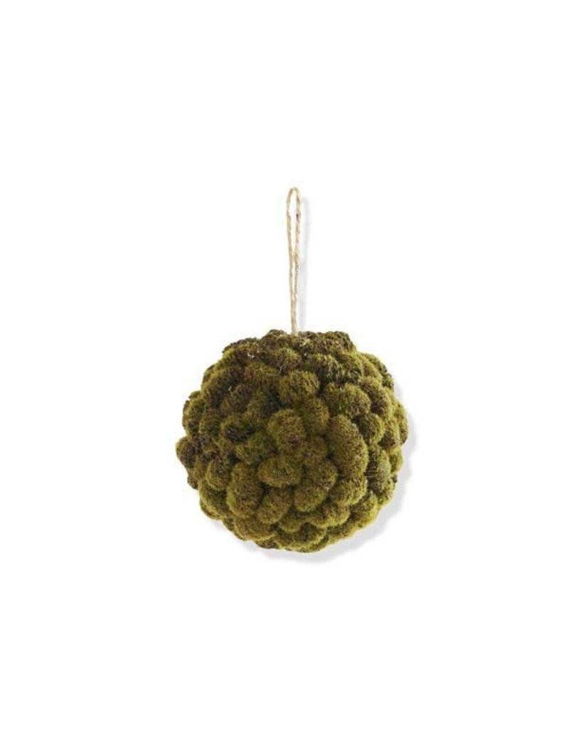 """5"""" Mossy Mini Pinecone Ball Ornament"""