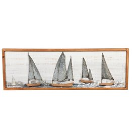 Sail Boat Wood & Metal Art