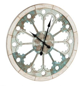Cayman Scalloped Wood Wall Clock