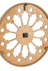 Cayman Scalloped Wood Wall Clock