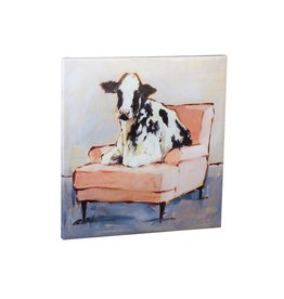 """""""Moo-ving In"""" Canvas 30"""" x 30"""""""