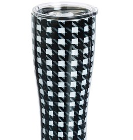 Houndstooth Stainless Steel Beverage Cup 17 oz