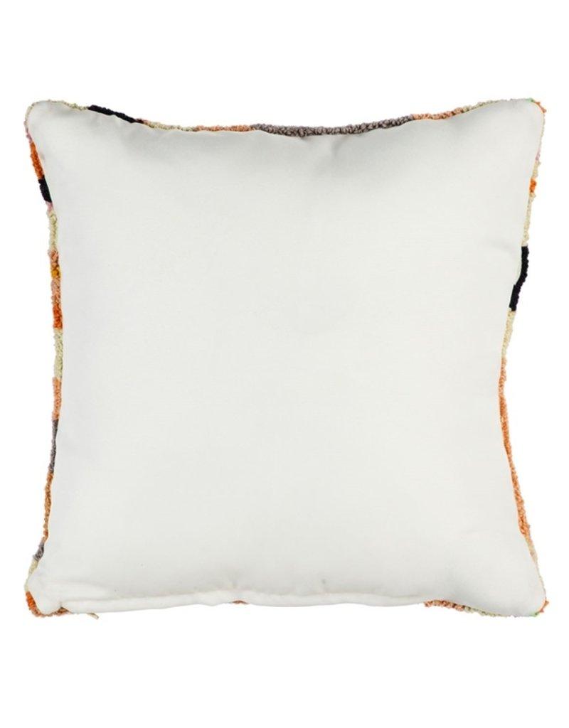"""Jardin Deer Hooked Indoor/Outdoor Pillow, 18""""x18"""""""