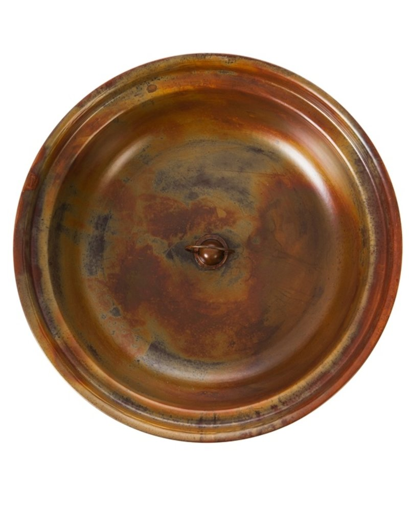 "15""D Metal Rain Chain Basin, Copper Finish"