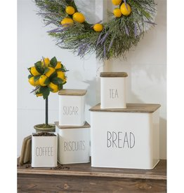 Evergreen Enterprises 5 Piece Kitchen Canisters w/Wooden Top