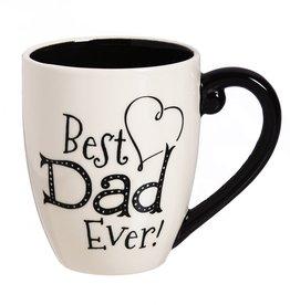 Black Ink Ceramic Cup O' Joe w/Box, 18 oz., Dad