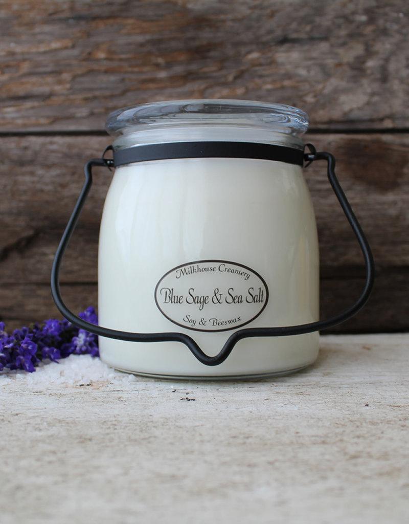 Butter Jar 16 OZ Blue Sage & Sea Salt