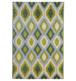 Reversible Weather resistant Rug 4X6 Green and Yellow