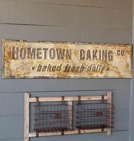 Aged Metal Hometown Baking Co Sign