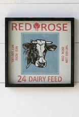Framed Feedsack Dairy Feed