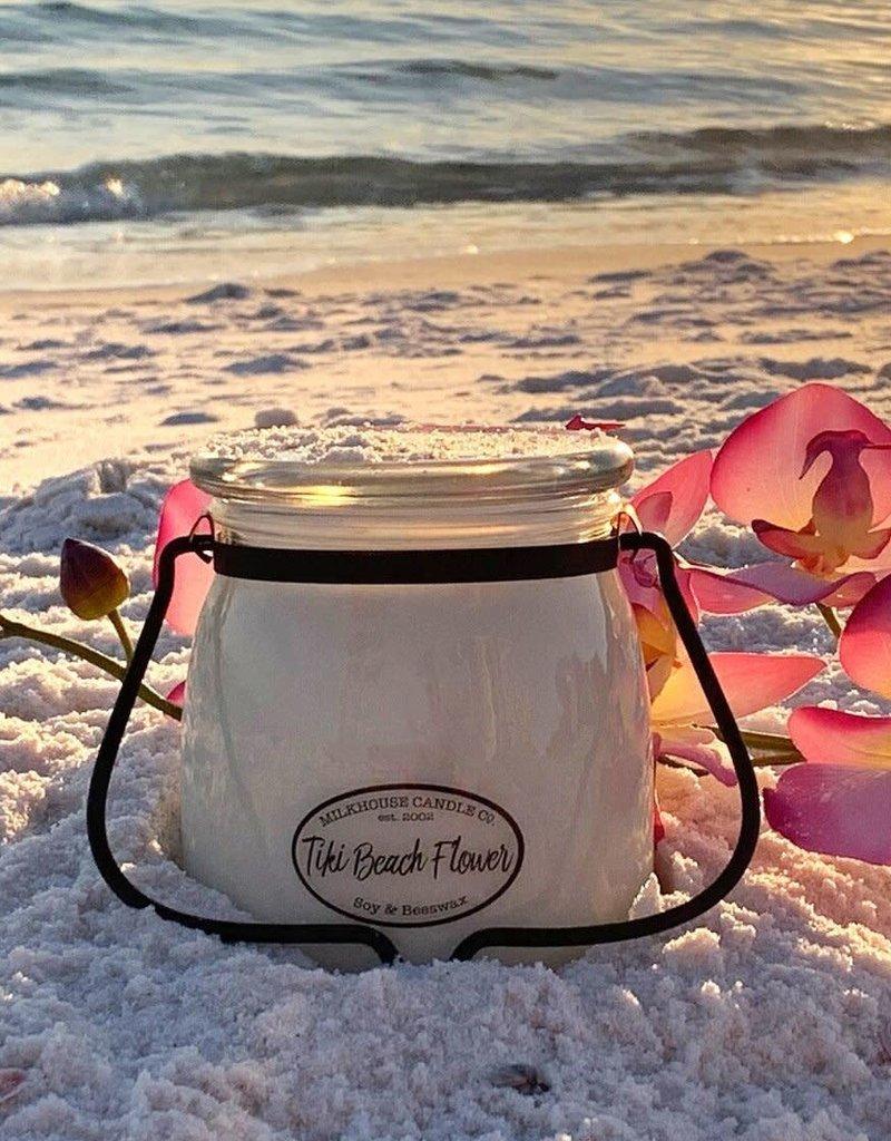 Butter Jar 16 oz Tiki Beach Flower