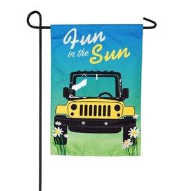 Fun in the Sun Garden Linen Flag